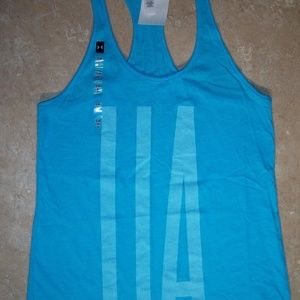 Under Armour Heat Gear Charged Blue Top M